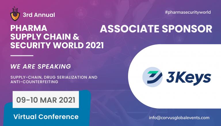 3keys at pharma supply chain security world 2021